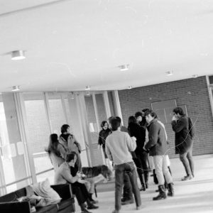 students inside Bernstein-Marcus Administration Center