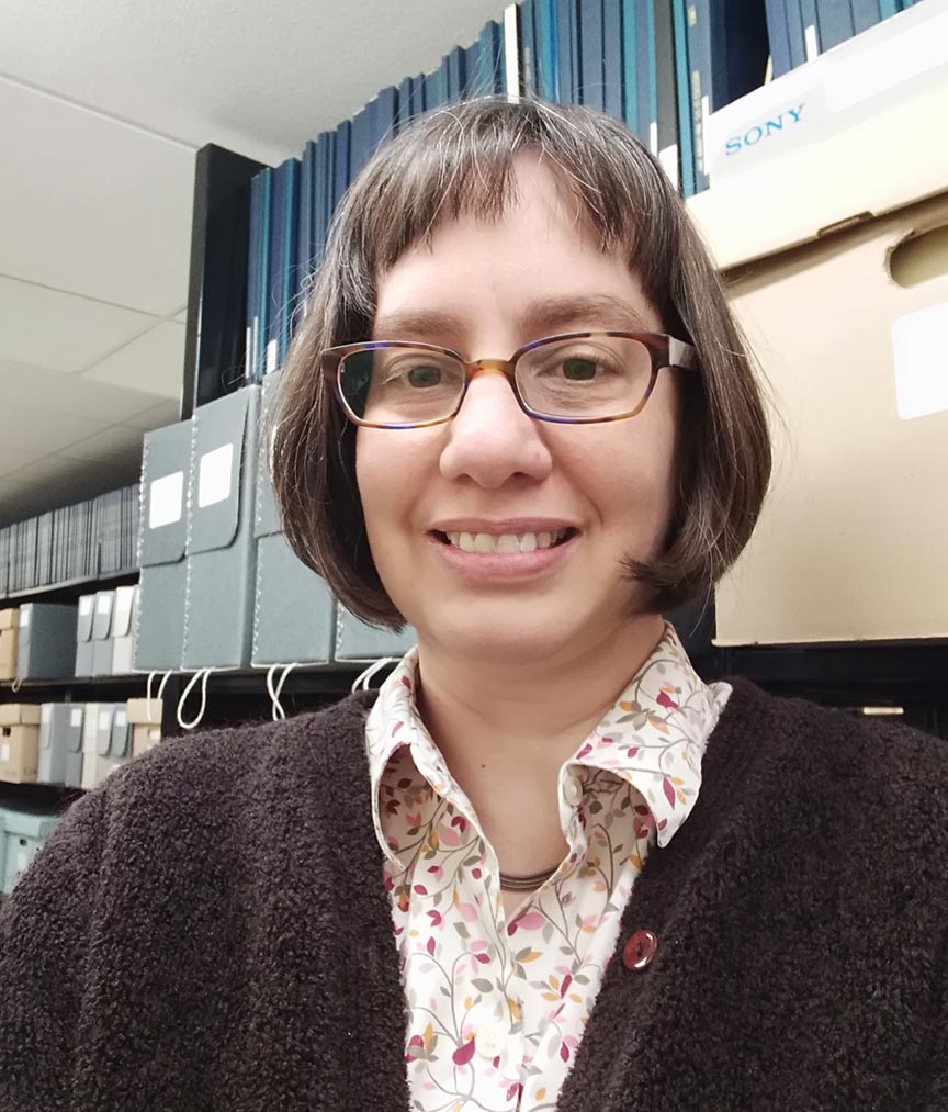 An image of University Archivist Maggie McNeely