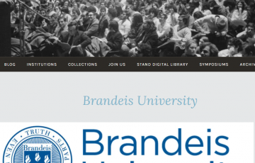 Screenshot of Brandeis page on Project STAND website